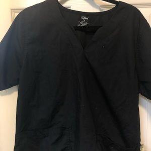 Black scrub top